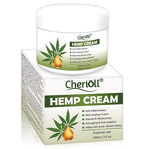 Hemp Cream, Hemp Healing Cream, Natural Hemp Extract, Reduces Signs of Aging, Stretch Marks, Scars, Relax The Skin While Improvi