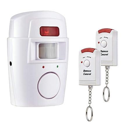 Antirrobo Alarma con sensor sirena 105 db con 2 mandos para casa oficina
