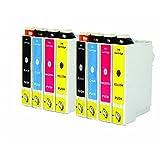 O'Image 8-Pack 220 T220XL Ink Cartridge Replacing for Epson Expression XP-320 420 424 WorkForce WF-2630 WF-2650 WF-2660 Series Printers (8-Pack: 2K/2C/2M/2Y)