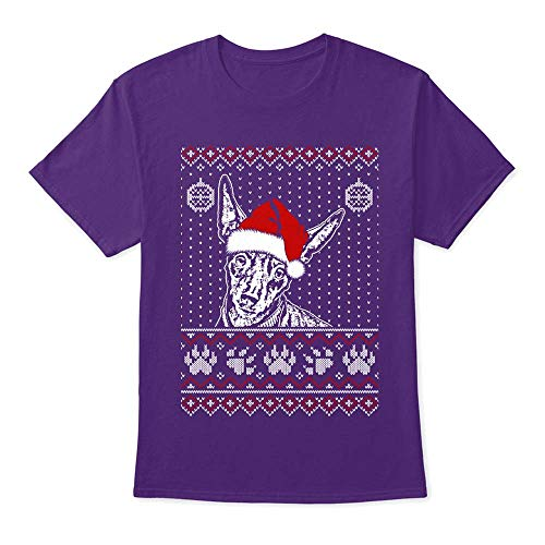 Miniature Pinscher Lover Christmas tee 4XL - Purple Tshirt - Hanes Tagless Tee ()