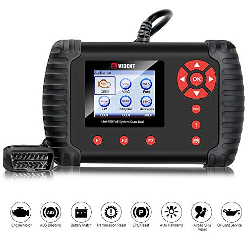 VIDENT iLINK400 Multi-System Scan Tool for GM/GMC/Buick/Chevrolet/Cadillac ABS, SRS, Engine, Transmission etc with Service Light Reset Functions ()