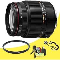 Sigma 18-200mm F3.5-6.3 II DC OS HSM Lens for Nikon SLR Cameras + 62mm UV Filter + Lens Cap Keeper + Deluxe Starter Kit DavisMAX Bundle