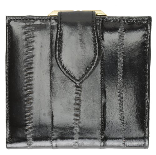 - French Frame EEL Skin Leather Ladies Wallet #E573