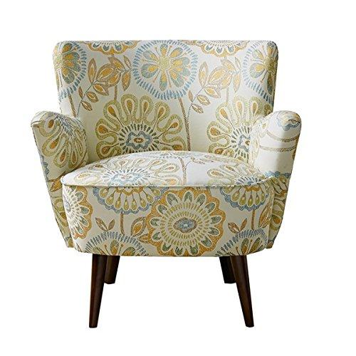Mid-Century Sophie Birch Legs with Espresso Finish Accent Chair (Multi) (Birch Round Chair)