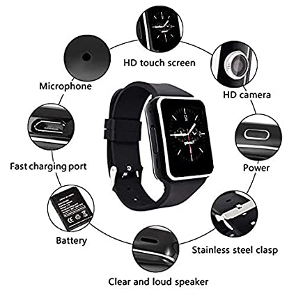 Amazon Com Bluetooth Smart Watch With Camera Touch Screen