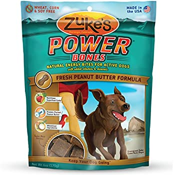 Zuke's Power Bones Fresh Peanut Butter Recipe Dog Treats - 6 oz. Pouch
