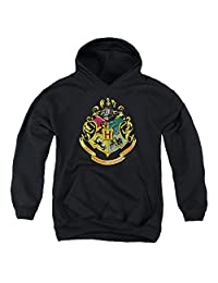 Harry Potter Hogwarts Crest Youth Pull Over Hoodie Black