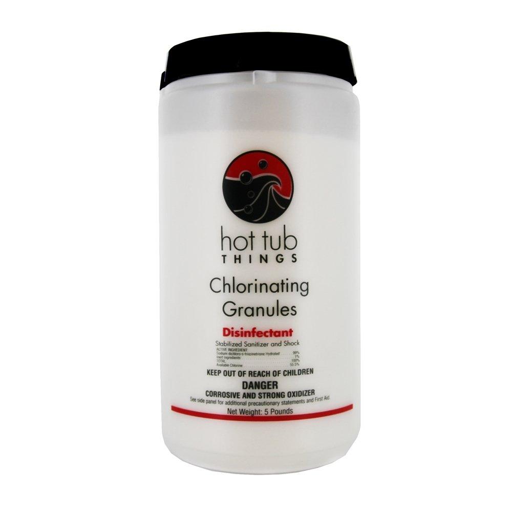 Amazon.com : Hot Tub Things Chlorine Granules 5 Pounds - Keeps ...
