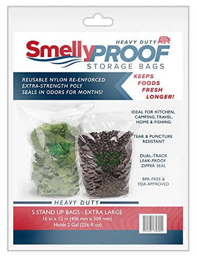 Smelly Proof STAND UP Heavy Duty BEAR PROOF, No Smell Bag, XL-12