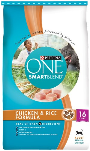 Purina One Cat Smartblend Chicken and Rice Cat Food, 16-Pound, My Pet Supplies