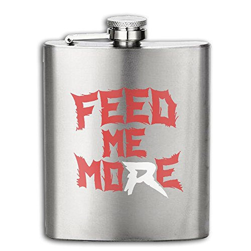 Costume Contest The Office Quotes (Feed Me More Logo Flasks Stainless Steel Liquor Flagon Retro Rum Whiskey AlcoholPocket Flask Liquor Flagon Retro Rum Whiskey Flask Great Gift 8OZ Lightweight)