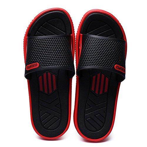 piscina alla Color Scarpe piatto Uomo Pantofola EU 43 Dimensione taglia shoes da Rosso Rosso uomo fino Scarpe da Xujw Tacco 2018 Sandali da 45EU qZwSWU0v