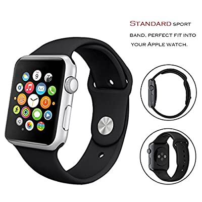 Apple Watch Sport Band, Sivir 38mm 42mm Soft Silicone Replacement Wristband iWatch Sport Strap for Apple Watch Series 2, Series 1, Sport, Edition, S/M M/L Size (8 Pack)