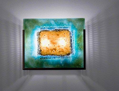 FN Wide Bronze Incadescent Wall Sconce (Half Moon Blue)