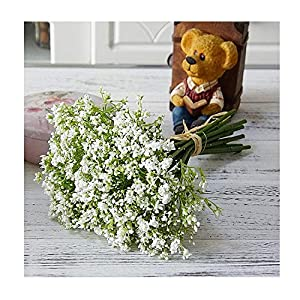 16Pcs/Bunch Handmade Breath Artificial Flowers Night Jasmine for Home Wedding Garden Decoration Plastic Fake Flowers 32