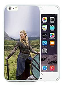 iPhone 6 Plus 5.5 Inch TPU Case ,Unique And Fashionable Designed Case With Vikings Ladgertha Lodbrok White For iPhone 6 Plus Cover Phone Case
