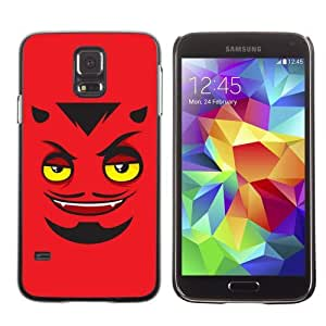 Licase Hard Protective Case Skin Cover for Samsung Galaxy S5 - Funny Devils Face