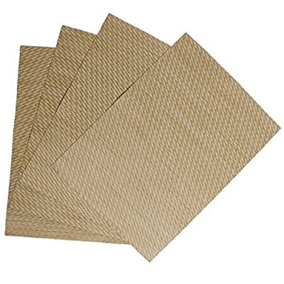 Benson Mills Twill Woven Vinyl Placemats (Set of 4), Beige - RESTAURANT QUALITY!  These are perfect for any occasion.  VERY EASY TO CLEAN! Made of 100% Vinyl FUN COLORFUL OPTIONS FOR YOUR CONVENIENCE. - placemats, kitchen-dining-room-table-linens, kitchen-dining-room - 51 lyGjnD4L. SS400  -