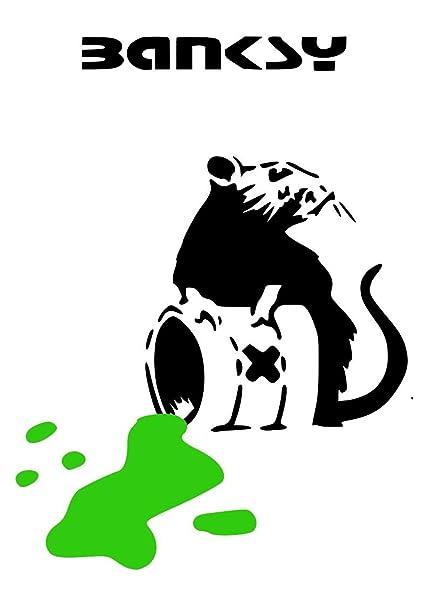 Banksy Wall Sticker Wall Decal (Toxic Rat): Amazon co uk: DIY & Tools