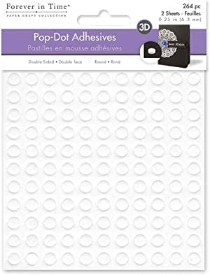 12 Hojas 2160 Piezas Espuma Adhesiva Cuadrada Cinta Adhesiva de Espuma 3D de Doble-adhesivo 0,4 Pulgada para Manualidades Arte u Oficina