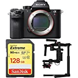 Sony a7R II Mirrorless Interchangeable Lens 42.4MP Camera with DJI Ronin M 3-Axis Brushless Gimbal Stabilizer and Sandisk 128GB SDXC Memory Card Bundle