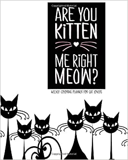 Are You Kitten Me Right Meow? Weekly Coloring Planner for