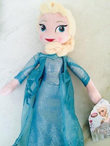 PRINCESS ELSA: Disney Frozen Soft Stuffed Plush Lovely Elsa Toy Doll 16