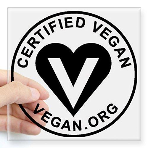 CafePress - Certified Vegan Square Sticker 3