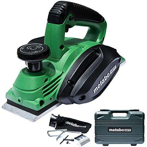 Metabo HPT Handheld Planer 3-1/4 5.5 Amp Motor Re-sharpenable Blades Built-in Kickstand Case (P20STQS)