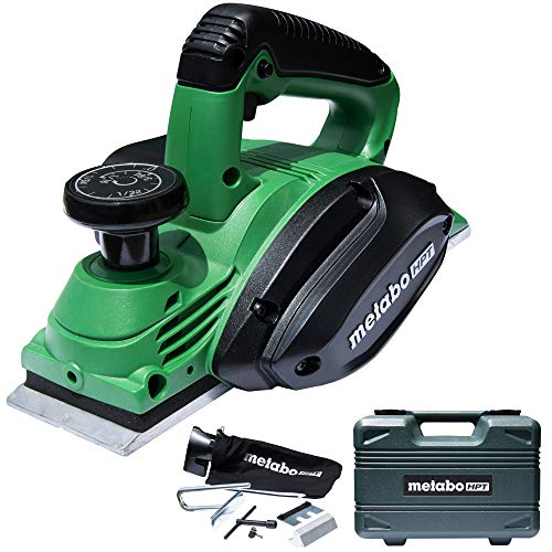"Metabo HPT Handheld Planer, 3-1/4"", 5.5 Amp Motor, Re-sharpenable Blades, Built-in Kickstand, Case (P20STQS)"