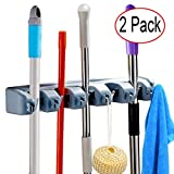 LALASTORE Pack of 2 Mop and Broom Holder Wall Mount