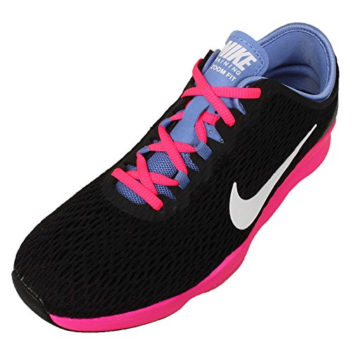Nike Womens Wmns Zoom Fit, Nero / Bianco-polar-rosa Pow, 6,5 Us