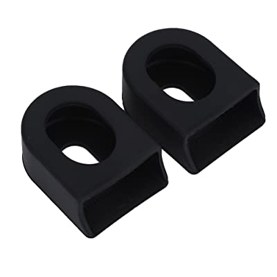 1Pair Crank Arm Protective Soft Cover Sleeves Boots Bike Accessories Black