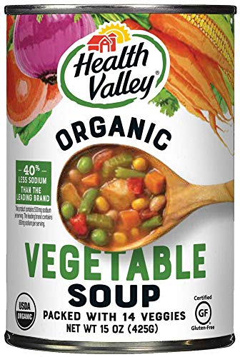 Health Valley Organic Soup, 14 Garden Vegetable, 15 Ounce (Pack of -