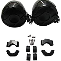 Shark Waterproof Motorcycle Handlebar Speakers, 300 Watts Each, 3 X 4 Inch, Brackets Included (Fits 7/8 inch to 1 inch handlebars), Black