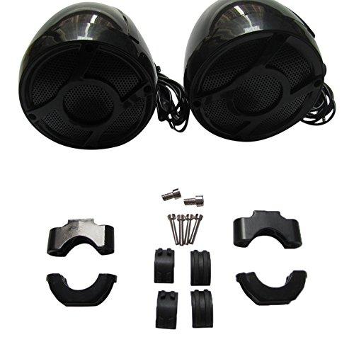 Shark Waterproof Motorcycle Handlebar Speakers, 300 Watts Each, 3 X 4 Inch, Brackets Included (Fits 7/8 inch to 1 inch handlebars), (Handlebar Mount Speakers)