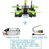 QWinout X180 DIY BNF Assembled Frame Kit Superlight Mini RC Racing Drone with OSD FPV HD 700TVL CAM FUTEBA FASST RX NO TX