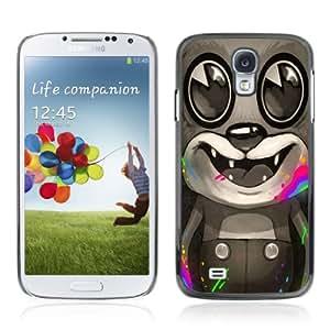 CQ Tech Phone Accessory: Carcasa Trasera Rigida Aluminio Para Samsung Galaxy S4 i9500 - POP Art Neon Bear