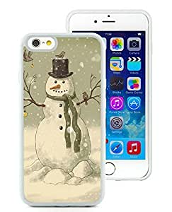 Diy iPhone 6 Case,Christmas Snowman White iPhone 6 4.7 Inch TPU Case 3 by lolosakes