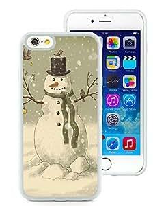 Diy iPhone 6 Case,Christmas Snowman White iPhone 6 4.7 Inch TPU Case 3
