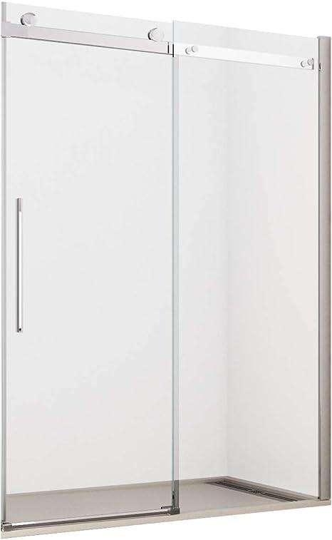 Olimpo duchas mit-140 8 mm Frame Less sin perfiles diseño puerta deslizante anti cal, transparente: Amazon.es: Bricolaje y herramientas