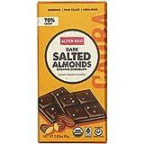 Alter Eco Fair Trade Dark Salted Almonds 70% Chocolate Bar, 80g
