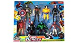 BABY N TOYYS 8 In 1 Twist and Move Avengers Super Heros Action Figure Play Set
