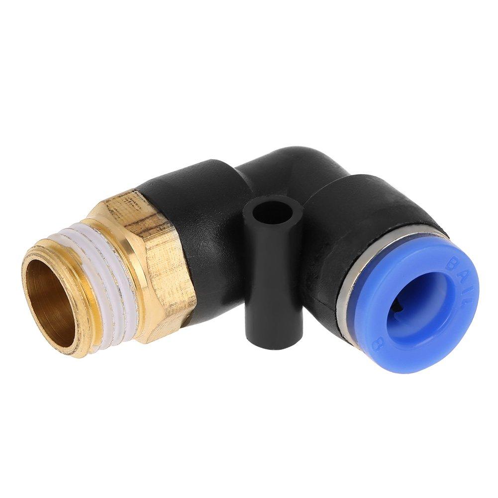 Hilitand Adaptador de accesorios de aire de conector r/ápido 10pcs codo neum/ático Empuje hacia adentro para conectar el montaje del tubo de 8 mm de di/ámetro juego de rosca G1//4