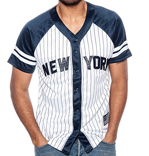 New York Pinstripe Baseball Jersey