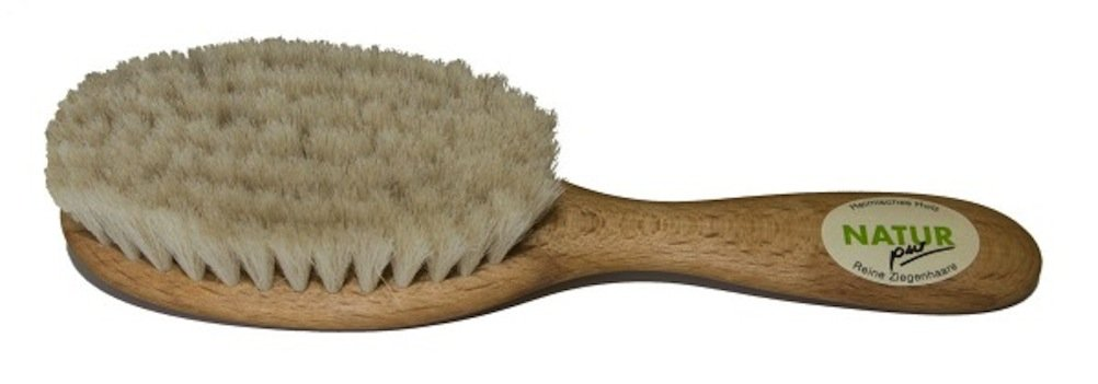 Popolini Natural Baby Hairbrush with Goat Hair Bristles 9006720504010