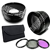77mm DM Optics 0.45X Wide Angle Lens + Macro & 2X Telephoto Lens Includes, Lens Caps, Lens Bag and High Resolution 3-piece Filter Set (UV, Fluorescent, Polarizer) For The Sony A230 A290 A350 A380 A390 A700 A850 A900 SLTA33 SLTA55V SLR Cameras Which Have Any Of These (24-70mm, 70-200mm, 70-400mm) Sony Lenses -  DavisMAX