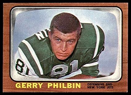 Amazon.com  Football NFL 1966 Topps  98 Gerry Philbin EX NM NY Jets ... 6ff5b6410