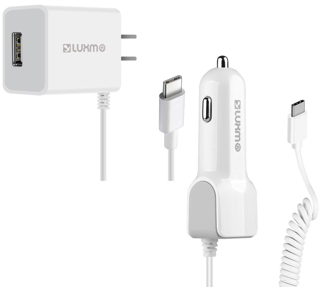Googleピクセル2 USB C高電源車とホーム充電器パックwith Extra USBポートホワイト B07994J7TW