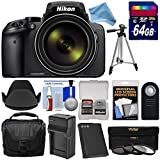 Nikon Coolpix P900 Wi-Fi 83x Zoom Digital Camera with 64GB Card + Battery & Charger + Case + Tripod + 3 Filters + Hood + DigitalAndMore Free Deluxe Accessory Kit Bundle